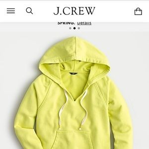 J Crew bright sweatshirt with hood